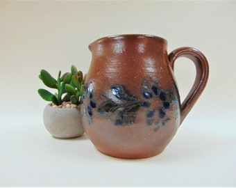 Portuguese Salt Glaze Stock Jug Pitcher Vintage Cookware Collectable Pottery Interior Design Home Decor