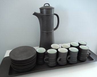 Vintage Dansk Flameware - Dansk Coffee Set - Jens Quistgaard Design - 22 Piece Vintage Dansk - Dansk IHQ Coffee Set