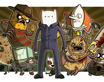 Terror Time (Horror & Adventure Time Crossover) 11x17 Print