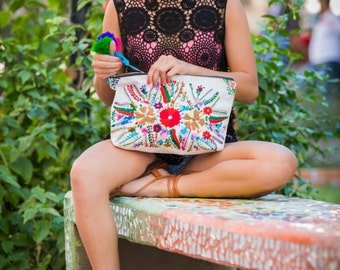 Mexican Embroidery Michelle Oversized Clutch FREE SHIPPING