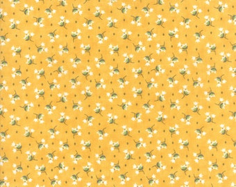 Pepper and Flax - Tulip in Tansy: sku 29043-16 cotton quilting fabric by Corey Yoder for Moda Fabrics