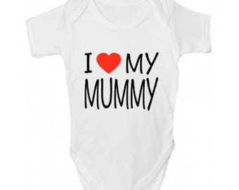I <3 My Mummy Baby Grow