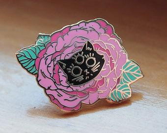 """pandora the magical kitten // gold 1"""" enamel pin"""