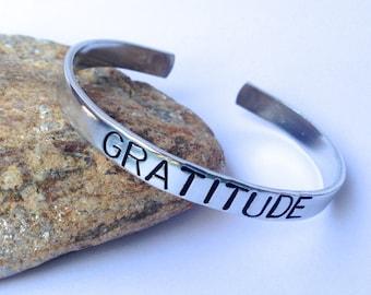 Gratitude - Cuff Bracelet