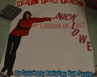 Nick Lowe Promotional Poster -- Labour of Lust