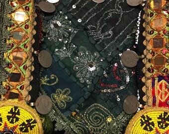 Green Goddess Tribal Tassel Belt