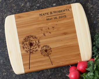 Personalized Wedding Gift, Personalized Cutting Board, Custom Engraved Cutting Board, Bamboo Cutting Boards, Housewarming Gift-10 x 7 D28