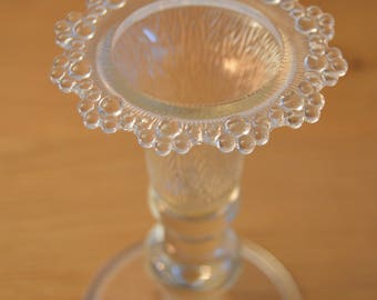 Glass candle holder, Vintage, Italy, 1960-s