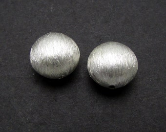 2 Pcs, 9.4 mm, Sterling Silver Beads