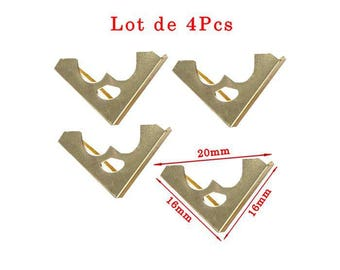 Gold plated corners model O Protection deco design. Size approximately 16x16mm and 20mm length set 2.5 mm thick