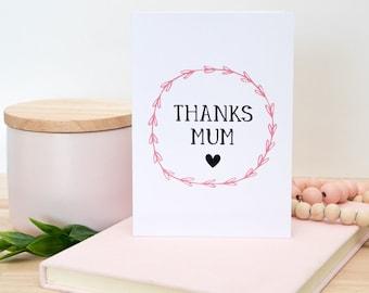 Thanks Mum Card