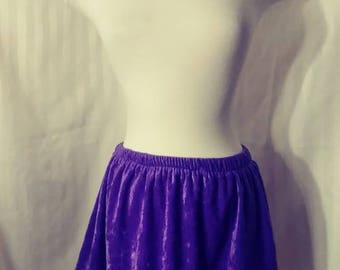 Purple Velvet Skirt Size Small