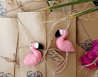 Two flamingo ornaments.Sweet couple from Cyprus.Pink flamingo ornaments.From Cyprus with Love