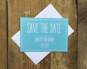 Modern wedding save the dates | Wedding save the date cards | The simple one |