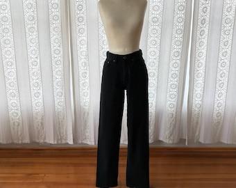 80s high waist denim // Black high waisted jeans