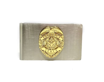 Law Enforcement Money Clip – Gold