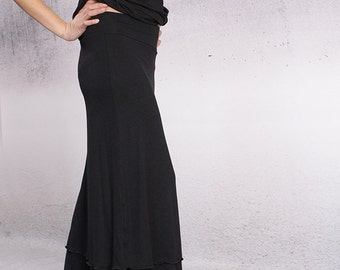 Women's skirt,Skirt, Layered black long skirt, maxi skirt, long skirt, A line skirt,black skirt,layered skirt by UrbanMood - CO-LEDA-VL