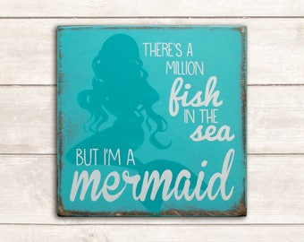 Mermaid Decor; Mermaid Sign; Mermaid Wood Art; Mermaid Wood Signs; Mermaid Wall Art; Beach Decor; Beach Wood Signs; I'm A Mermaid Sign