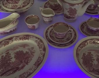 Royal Tudor Ware 24 parts-dish-cup-pot-bowl-plate-and more s. Description