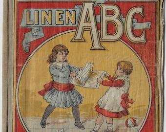 Little Pets Linen ABC, McLoughlin Bros, chromolithographs, 1880s, victorian era, alphabet