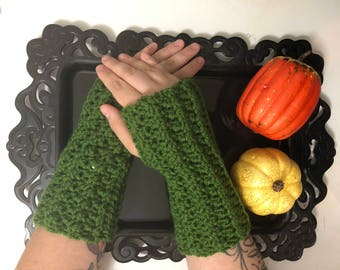 READY TO SHIP // Moss Stitch Wrist-Warmers, Crochet Wristwarmers, Crochet gloves,Crochet fingerless gloves,Texting Gloves, Fingerless gloves