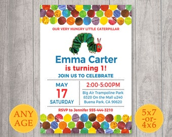 The Very Hungry Caterpillar Invitation The Very Hungry
