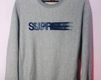 Vintage SUPREME Motion Logo SpellOut  Sweatshirt Crewneck Large Size