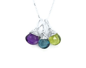 mum necklace silver birthstone for jumbo inscriptions