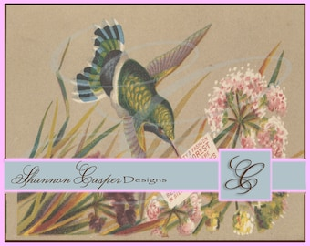 Large Vintage Ephemera Digital Image #8 ~ Instant Download