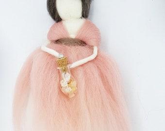 needle felted fairy,