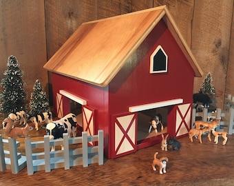 Kids Hardwood Toy Barn -SHIPS 1-3 Days-