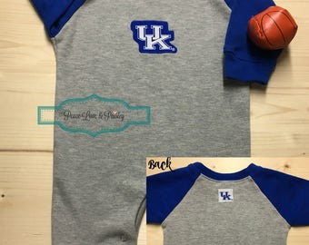 University of Kentucky Baby Romper, UK Wildcats Baby Outfit, Kentucky Wildcats Baby, Going Home Outfit, Baby Shower Gift, Baby Raglan Romper