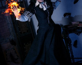 Yennefer cosplay costume, fantasy dress, Witcher, made to order