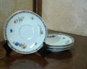 Vintage set of 4 Fraureuth Saxony China Saucers