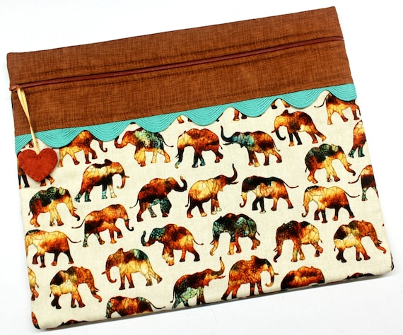 African Elephants Cross Stitch Embroidery Project Bag