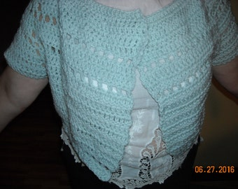 Blue Lace Shrug