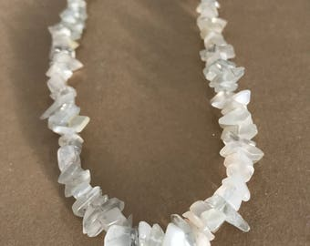 Moonstone chips necklace