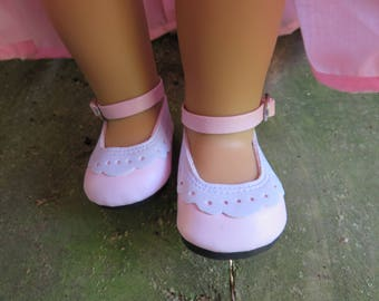 "Cute Light pale pink  18"" Doll shoes, Fits American girl dolls"