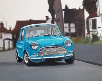 Mini Cooper, Austin Mini, British car, Vintage car Mini Cooper S 1963