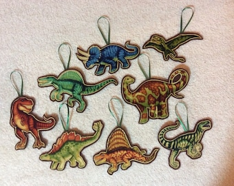 Dinosaur Ornaments-Set of 8