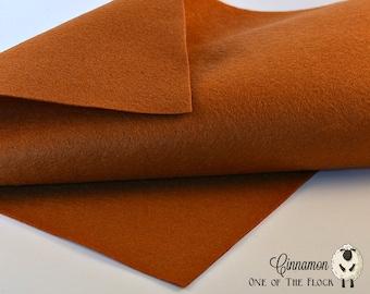 Cinnamon Wool Felt, Felt by the Yard, Merino Wool Felt, Wool Blend Felt, Wool Felt Yardage, Wool Felt Fabric, Merino Wool Blend Felt, Felt