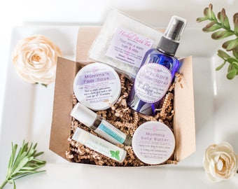 New Mommy Gift Basket - All Natural Products for Mom - Mom To Be Gift - Mommy Gift Box - Spa Gift For Expecting Mom - Pregnancy Gift