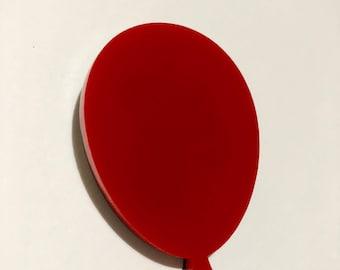 Red balloon brooch