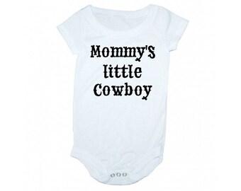 Mommy's little cowboy, Little cowboy shirt, Mommy's cowboy onsie, baby onsie, cowboy onsie, cowboy kids clothes