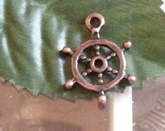 1 pendant of Tibetan style, for Christmas day, mixed shape, nickel, red copper, 22mmx20 mm, hole:
