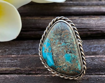 Vintage Silver Turquoise Rings   Festival Fashion   Turquoise Jewelry   Boho Rings   Bohemian Jewelry   Interesting Jewelry   Vintage Rings