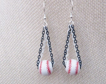 San Diego Padres Inspired Ceramic Earrings Sterling Wires Pendant