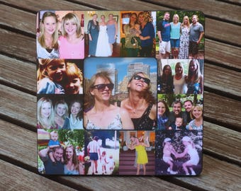 "Bridesmaid Picture Collage Frame, Personalized Sister Gift, Custom Collage Maid of Honor Frame, Best Friends Birthday Gift, 8"" x 8"" Frame"