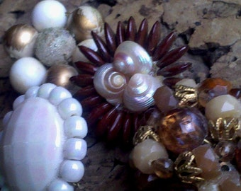 Collection Set of 4 Push Pin Reincarnated from Vintage Cluster Gems