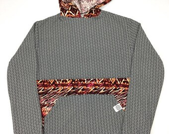 50% OFF SALE One of a Kind - PSYCHEDELIC Red Eye Pullover ( Small )